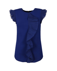 Ted Baker Womens Blue Ysabel Frill Detail Knitted Top