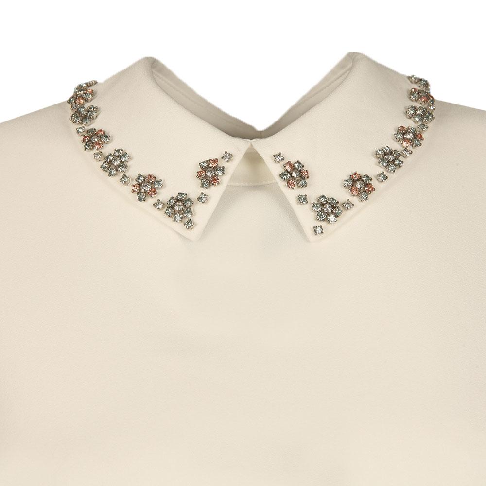 Tillda Embellished Collar Cap Sleeve Top main image