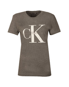 Calvin Klein Womens Grey Shrunken T Shirt