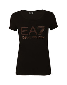 EA7 Emporio Armani Womens Black 6YTT37 T Shirt