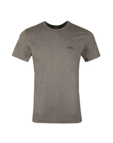 Boss Green Mens Grey Tee Plain T Shirt