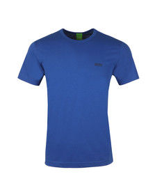 Boss Green Mens Blue Tee Plain T Shirt