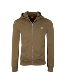 Boss Orange Mens Green Ztadium Zip Hoody
