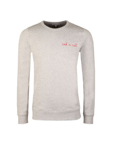 Maison Labiche Mens Grey Rock'N'Roll Sweatshirt