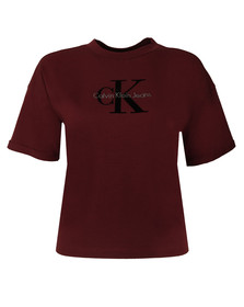 Calvin Klein Womens Red Teco-11 True Icon Tee
