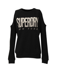 Superdry Womens Blue Sport Cold Shoulder Crew