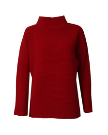 French Connection Womens Red Sunday Mozart High Neck Jumper
