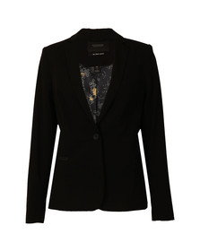 Maison Scotch Womens Black Classic Lined  Blazer