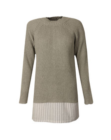 French Connection Womens Grey ILA Knits High Neck Jumper