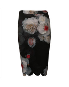 Ted Baker Womens Black Laylie Chelsea Print Pencil Skirt