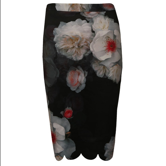 Ted Baker Womens Black Laylie Chelsea Print Pencil Skirt  main image