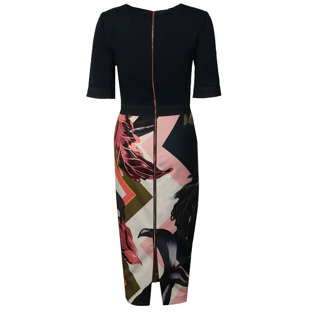 Casiew Eden Block Bodycon Dress main image