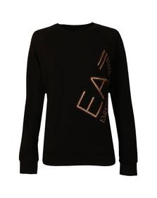 EA7 Emporio Armani Womens Black 6YTM24 Sweatshirt