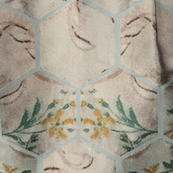 Ted Baker Womens Blue Dewrose Patchwork Bardot Bow Dress