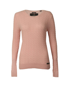 Superdry Womens Pink Luxe Mini Cable Knit