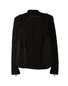French Connection Womens Black Stephanie Pu Waterfall Jacket