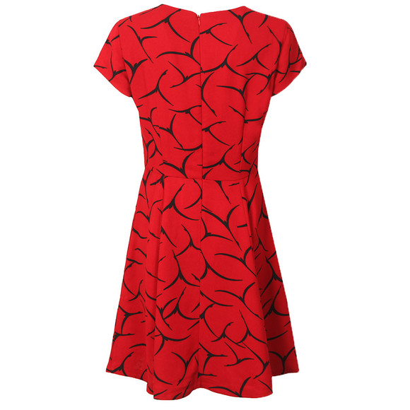 French Connection Womens Red Roseland Drape Dress main image