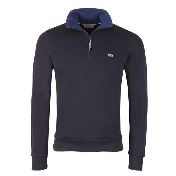 Lacoste Mens Blue Half Zip Sweatshirt SH1925 main image