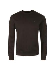 Armani Jeans Mens Black 8N6M19 Crew Neck Sweatshirt