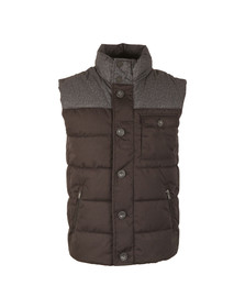 Superdry Mens Black Tech Tweed Gilet