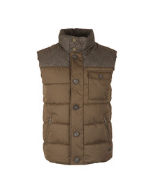 Superdry Mens Green Tech Tweed Gilet