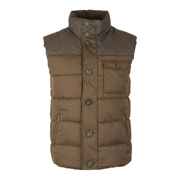 Superdry Mens Green Tech Tweed Gilet main image