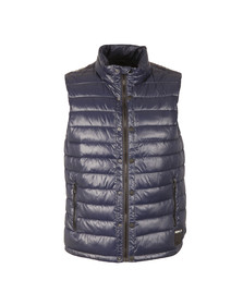 Replay Mens Blue High Callar Gilet