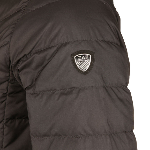 EA7 Emporio Armani Mens Black Small Shield Logo Lightweight Down Jacket main image