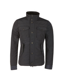 J.Lindeberg Mens Blue Bailey Structured Poly Jacket
