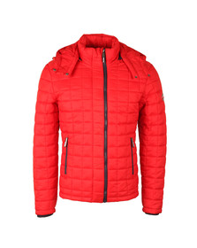 Superdry Mens Red Box Quilt Fuji Hood Jacket
