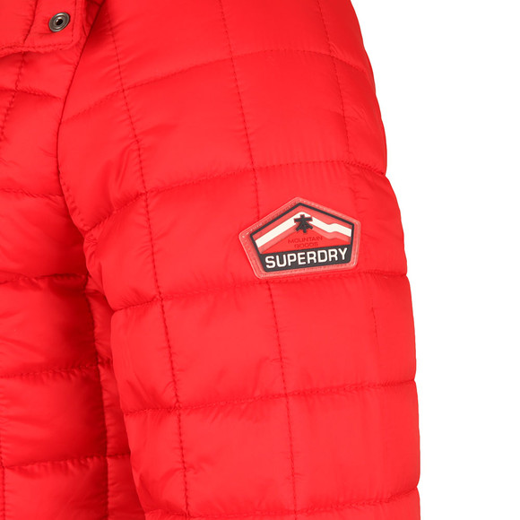 Superdry Mens Red Box Quilt Fuji Hood Jacket main image