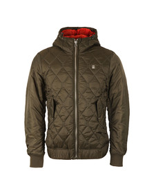 G-Star Mens Green Meefic Hooded Bomber