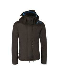 Superdry Mens Black Pop Zip Hood Arctic Windcheater