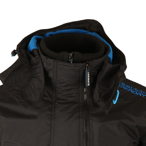 Superdry Mens Black Pop Zip Hood Arctic Windcheater main image