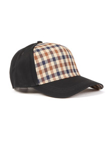 Aquascutum Mens Blue Kiril Club Check Front Cap