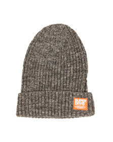 Superdry Mens Grey Wiseman Beanie