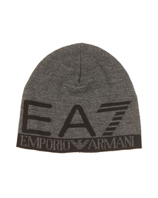 EA7 Emporio Armani Mens Grey Train Visibility Beanie