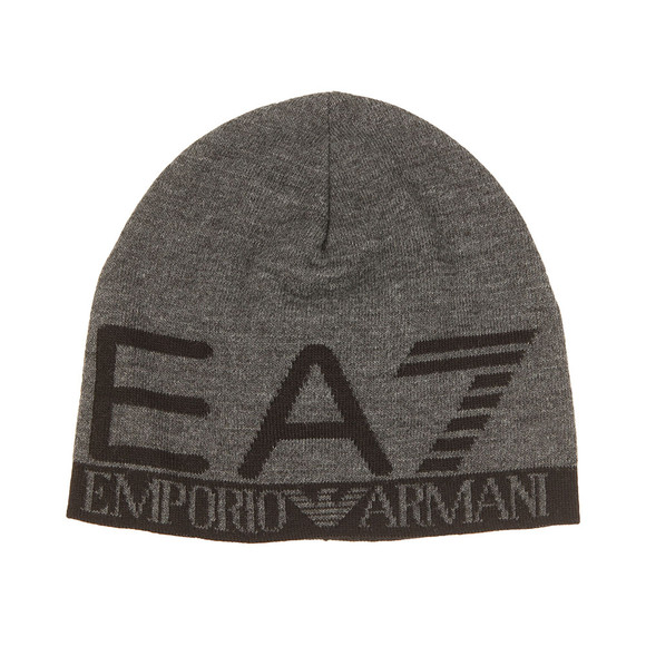EA7 Emporio Armani Mens Grey Train Visibility Beanie  main image