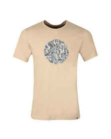 Pretty Green Mens Grey Paisley Applique T Shirt