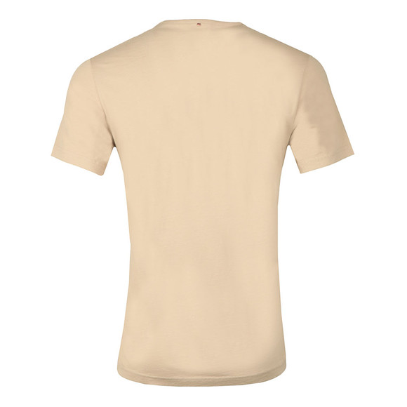 Pretty Green Mens Beige Paisley Applique T Shirt main image
