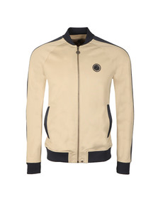 Pretty Green Mens Grey Contrast Panel Track Top