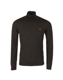 Farah Mens Grey Gosforth Merino Roll Neck