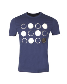 CP Company Mens Blue Circle Logo T Shirt