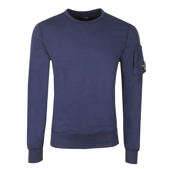 CP Company Mens Blue Viewfinder Sleeve Crew Sweat main image
