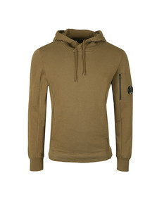 CP Company Mens Green Overhead Fleece Sweatshirt