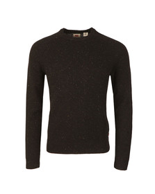 Levi's Mens Black Hayes Crew Jumper