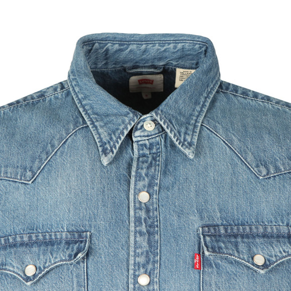 Levi's Mens Blue Barstow Denim Shirt main image