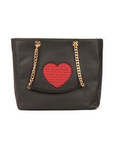 Valentino by Mario Womens Black Love Tote Bag