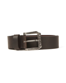 Replay Mens Black Leather Belt