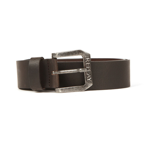 Replay Mens Black Leather Belt main image